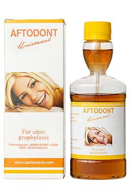 Aftodont - high quality, pure organic, herbal extract for the prevention and treatment of oral cavity of herbal
